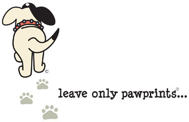 Green Dog Walkers - Leave Only Pawprints logo