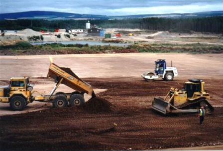 Image of a landfill site being constructed