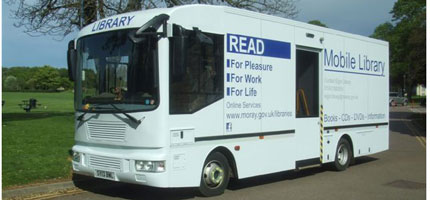 Photo of a mobile library